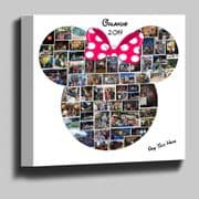 Disney Minnie Mouse shape photo collage box framed canvas print  18mm Deep frame (1)
